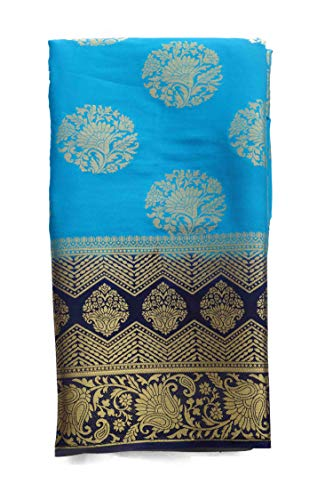 arars art crepe mysore silk saree with blouse kanjivaram kanchipuram pattu style wedding collection colour blue -