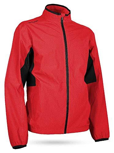 Sun Mountain 2019 Men's Monsoon Golf Jacket Red-Black Large ()