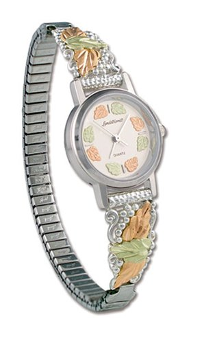 Landstroms Gold On Silver Ladies Watch and Band - 09287B-SS-09250-SS by Landstroms Original Black Hills Gold
