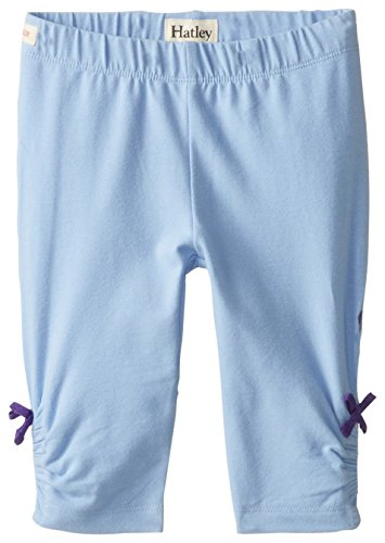 Hatley Little Girls' Ruched Leggings Terry,Blue,5 by Hatley