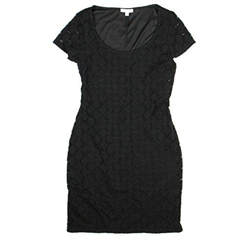 isaac-mizrahi-womens-lined-eyelet-knit-cap-sleeve-dress-small-black
