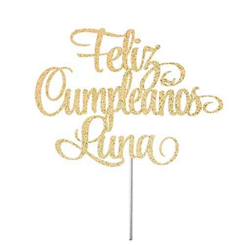 Feliz Cumpleaos Cake Topper Custom Happy Birthday Spanish Happy Birthday Cake Toper Birthday Cake Topper Feliz Fiesta -