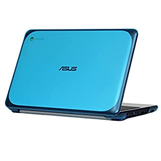 """mCover iPearl Hard Shell Case for 11.6"""" ASUS Chromebook C202SA Series Laptop - Orange"""