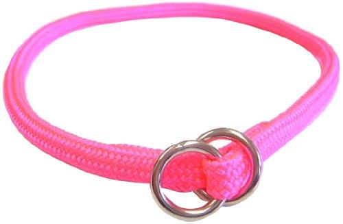 Hamilton 826 HP 5/16-Inch by 14-Inch Round Braided Choke Nylon Dog Collar, Hot Pink, My Pet Supplies