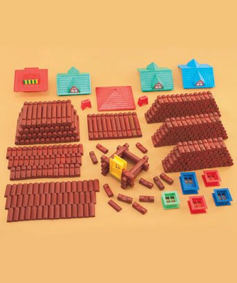 400 Piece Wood Log Building Set ()