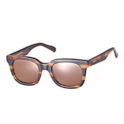 NOCOLA 2016 womens Anti-uv acetate frame two-tone Polarized UV400 Wayfarer Sunglasses - Amber