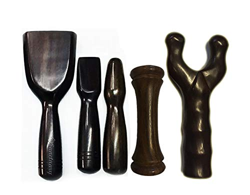 Tok Sen, Bident, Dumbbell Add-On, Hammer Set Wooden Massager Tool Deep Tissue Therapy Toksen Massage Stick Trigger Point Back Muscle Foot Strike Wedge Stamp Percussion Wood Thailand