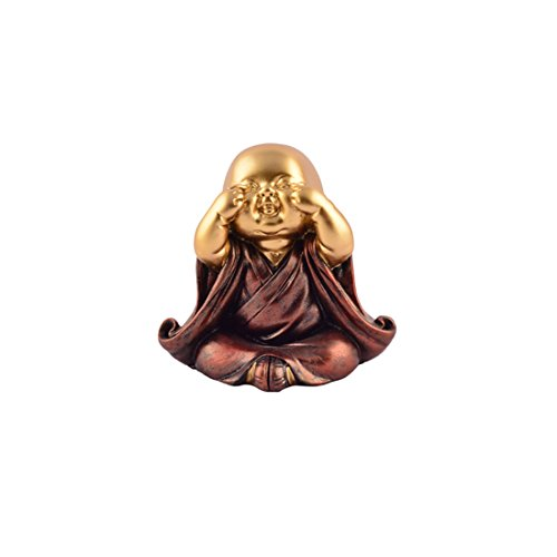 (Ethnic Karigari Car Dashboard Interiors Decorations Accessories Feng Shui Lucky Cute Laughing Buddha Baby Statue for Good Luck Wealth Money and Happiness Handicrafts 3.5