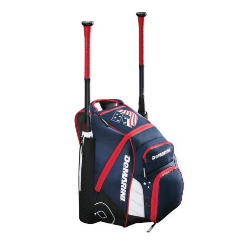 Red Baseball Bag - DeMarini Voodoo Rebirth Bat Pack Red/White/Blue