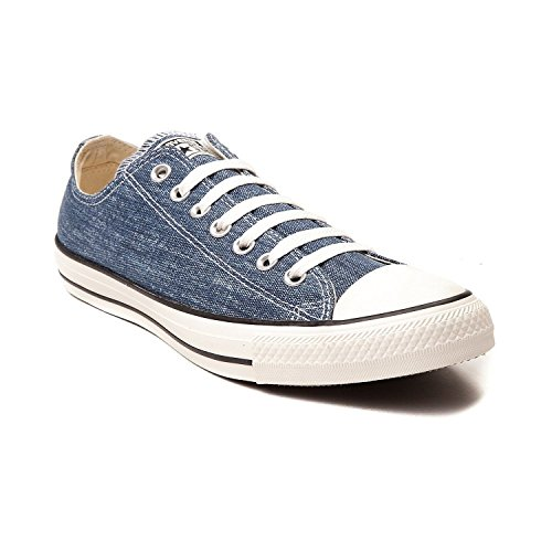 3c0d0cbfa3f6 Converse Chuck Taylor All Star OX Washed Canvas Low Top Sneakers 147038F  Navy 10 D(