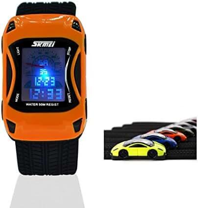 Kids Watches Boys Girls Waterproof Sports Rubber Digital LED Wristwatches for Children,2 Year Warranty