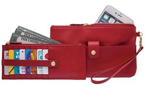 lodis-womens-olivia-leather-card-slot-wallet-2-piece-combo-set-red