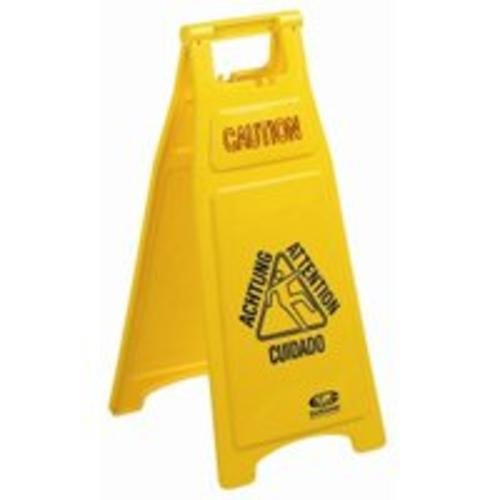 Continental 119 Yellow 26-Inch Caution Floor Sign