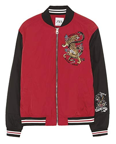 Zara Men Jacket with Contrast Embroidery 3548/450 (Medium) for sale  Delivered anywhere in USA