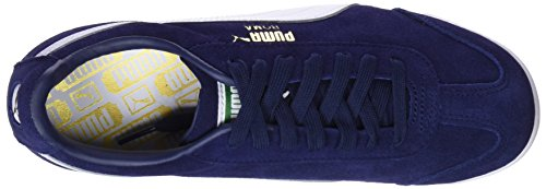Puma Mixte amazon Green puma Team Bleu Suede Peacoat Sneakers Roma puma Adulte Basses Gold White qwB4q1xC