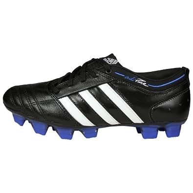 adidas Women's adiPURE II TRX Firm Ground Soccer Cleat,Black/White/Cobalt,5 M