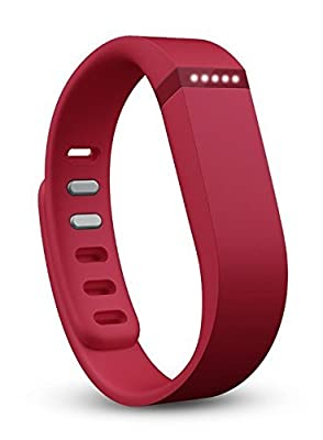 Fitbit Flex Wireless Activity and Sleep Wristband, Red Fitness Monitor Tracker