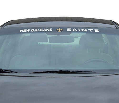 (Team ProMark NFL New Orleans Saints Windshield Decal, Black,)