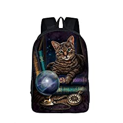 Cute Cat Print 16 Inch Student Backpacks Teenage Boys Girls Kids Backpack School Bags Children Mochila Mujer Escolar De Lona 16MM10