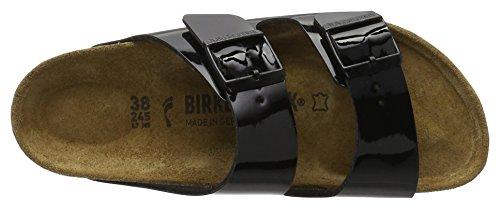 Birkenstock Arizona Birko-flor - Mules Mujer Negro (Vernis Noir)
