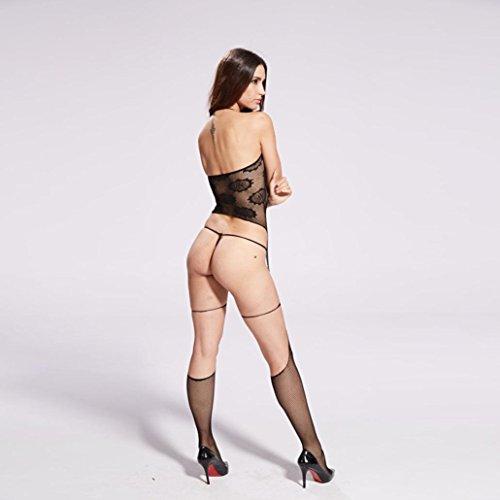 ha Free di AK Cintura da size Donna Lingerie seta delle pigiama cavallo sedotto condole biancheria sexy calze con Sexy della sexy apertura le donne Uniforme AJ sul Fami fznCqw4