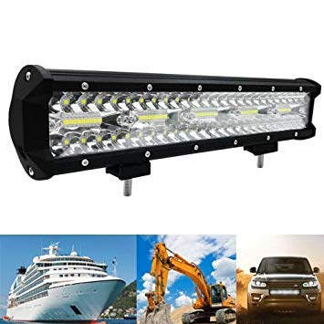 Uniqus 15 inch 300W 10000LM 6000K LED Strip Working Refit Off-Road Vehicle Lamp Roof Strip Light