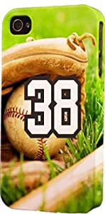 Baseball Sports Fan Player Number 38 Plastic Snap On Decorative iphone 4s Case