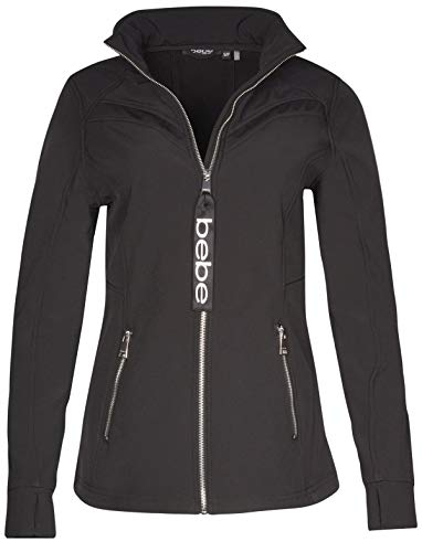 BEBE SPORT Ladies Fleece Lined Soft Shell Jacket with Double Layered Mesh, Black, Small' from BEBE SPORT
