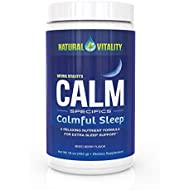Natural Vitality Natural Calm Calmful Sleep Magnesium Anti Stress Extra Sleep Support, Organic, Wildberry, 16 oz