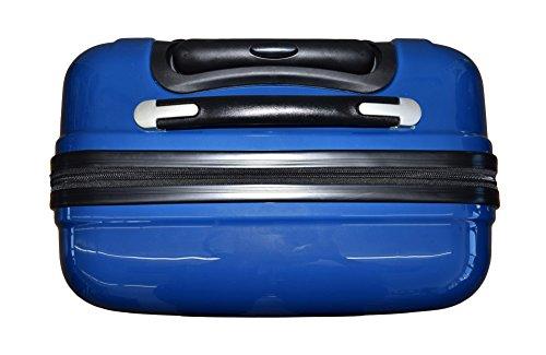 """Pioneer-® """"Scotland"""" Hartschalen-koffer Reise-koffer Reise-Trolley 50 cm blau mit Rollen"""