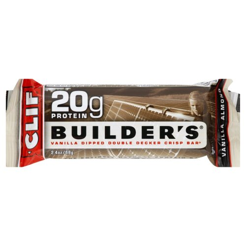Builder Bar, Vanilla Almond, 2.4 oz., package of (Clif Builders Bar Chocolate)
