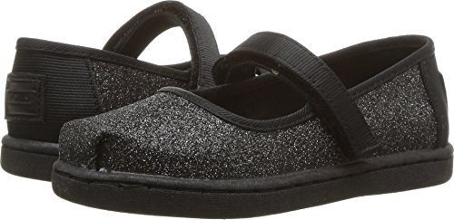 TOMS Kids Baby Girl's Mary Jane (Infant/Toddler/Little Kid) Black Iridescent Glimmer 6 M US Toddler