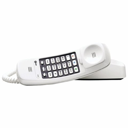 (ATT 210 Corded Trimline Phone with 13-Number Memory)