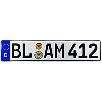 Balingen /& Zollernalbkreis German Euro License Plate by Z Plates