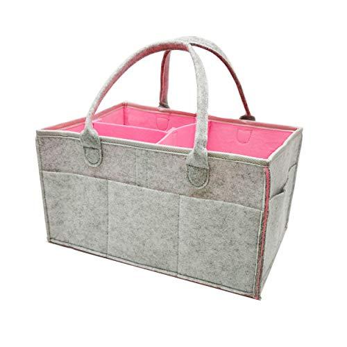 Baby Diaper Caddy Organizer Baby Shower Gift Basket for Boys Girls Diaper Tote Bag Nursery Storage Bin for Changing Table | Newborn Registry Must Haves Portable Car Travel Organizer (Newborn Gift Basket Under $10)