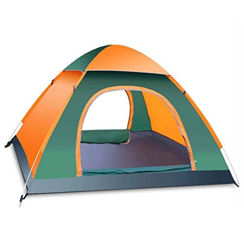 蓮明るい志すBAITER テント 全自動 2秒でopen! クレセントドーム テント 頑丈テント 防水?防虫?日焼け止めテント 3-4人