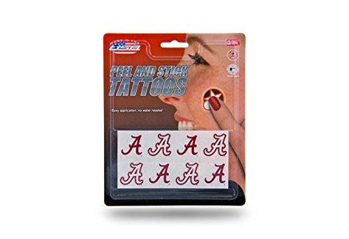 Alabama Crimson Tide Temporary Tattoos - Rico Industries NCAA Alabama Crimson Tide Face Tattoos, 8-Piece Set