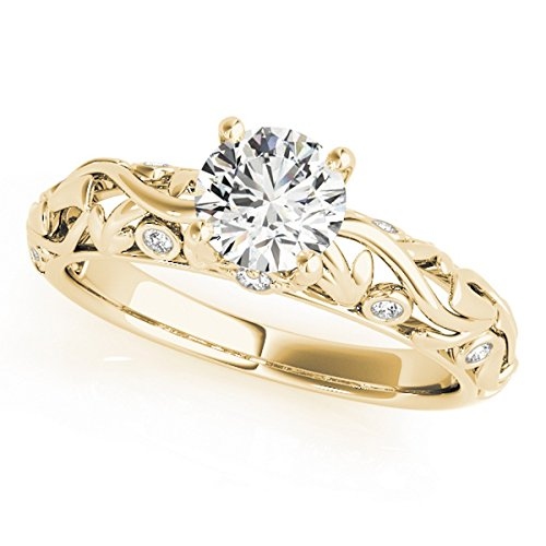 - Diamond Antique Style Engagement Ring 14k Yellow Gold (0.68ct)