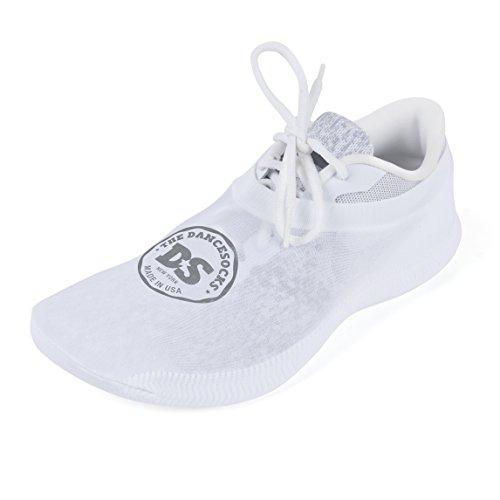 THE DANCESOCKS - Over Sneaker Socks for Dancing on Carpeted Floors (White)
