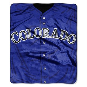 MLB Colorado Rockies Jersey Plush Raschel Throw, 50'' x 60''