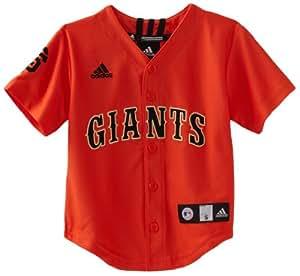 MLB Boys San Francisco Giants Team Color Applique Jersey (Varsity Orange, 7)