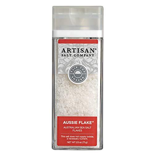 (SaltWorks Aussie Flake Australian Sea Salt Flakes Artisan Shaker Jar, 2.5 Ounce)