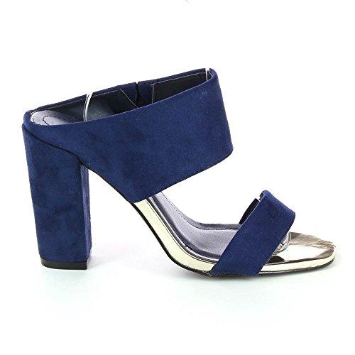 Go Tendance - Sandalias de vestir para mujer Azul