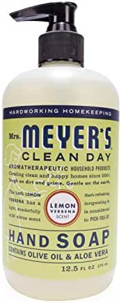 Mrs. Meyer's Hand Soap Lemon Verbena, 12.5 Fluid Ounce (Pack of 3)