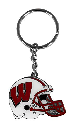 NCAA Wisconsin Badgers Helmet Keychain (Team Helmet Wisconsin Badgers)