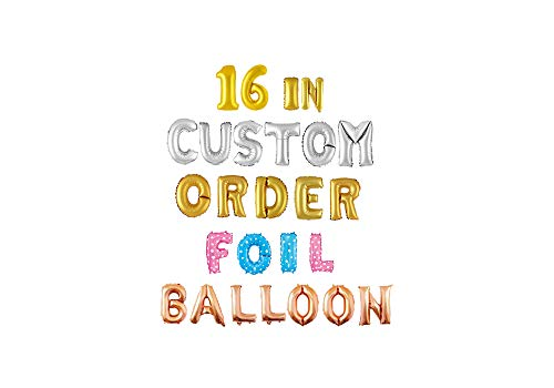 16 Inches Gold Silver Mylar Foil Balloon in Alphabet Letter and Numeric Number A-Z 0-9 (Letter A, Gold) -