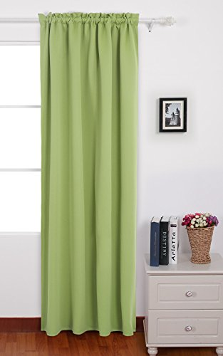 Deconovo Nile Green Rod Pocket Blackout Curtain Thermal Insulated Curtains for Baby Room 42 W x 84 L Nile Green 1 Panel