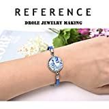 DROLE 40Pcs Bracelet Bezel Settings for Jewelry