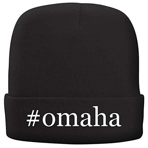 BH Cool Designs #Omaha - Adult Hashtag Comfortable Fleece Lined Beanie, Black
