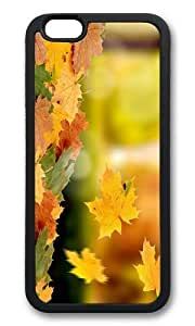 MOKSHOP Adorable falling leaves autumn Soft Case Protective Shell Cell Phone Cover For Apple Iphone 6 (4.7 Inch) - TPU Black